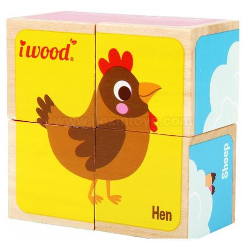 6 pcs Small Farm Animal Block » 11011