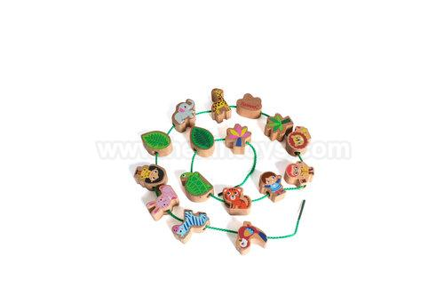15pcs Wooden Forest Beads » 12006